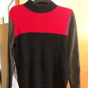 Karen Scott multi-color knit sweater.  Sz L